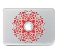 flor circular 9 adhesivo decorativo para macbook air / pro / pro con pantalla de retina