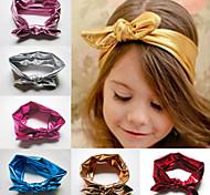 Baby Girls Stretch Elastic Toddler Rabbit Ear Turban Knot Bow Hairband Headband