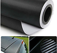 "Glasswetis® SimCarbon 3D Carbon Fiber Vinyl Film Wrap BLACK 12"" x 50"" Sheet"