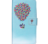 Balloon House Pattern PU Leather Wallet Full Body Case with Card Slot And Stands for Motorola MOTO G3 3rd Gen