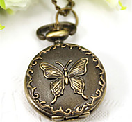Woman Quartz Small Butterfly Pocket Watch Cool Watches Unique Watches