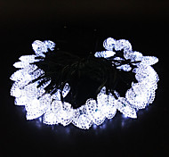 King Ro 7M 30LED Solar Heart Shape String Lights SMD Warm White / White / Red / Blue / Green Waterproof