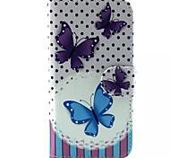 Schmetterlingsmuster PU-Leder-Tasche für Samsung Galaxy S6 / S6 Galaxienrand / galaxy s6 Kante sowie