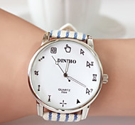 Woman Fashion Leather DINIHO Quartz Wrist Watch
