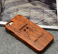 Wood ONE PIECE Pirates Hard Back Cover for iPhone 6