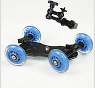Professional Tabletop DSLR Camera Dolly Slider Skater Wheel Truck Stabilizer for 5D2 EOS Video +7 Inch Magic Hands