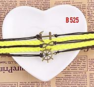 Women Handmade Woven Bracelet Metal Bangle Jewelry Gift