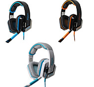 HIFI Gaming Wired Headphones  with In line Mic & Volume Control Glare Ear Noise Cancelling Bass Surround Earphones
