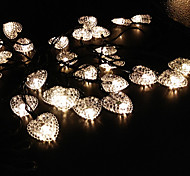 Solar LOVE Heart Shape String 6.5M 30LED Lights Fine Party Lights wedding Decoration lights Outdoor Waterproof Lights