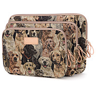 Cute Dog Design 10/11/12inch Canvas Laptop Sleeve Bag Ultrabook  Case for Macbook Lenovo Dell