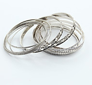 KAILA Women's New Fashion Vintage / Cute / Party  Casual Gold Plated Simple Bangle Bracelet