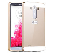 Premium Aluminum Metal Frame Acrylic Back Cover Set Case For LG G3 (Assorted Colors)