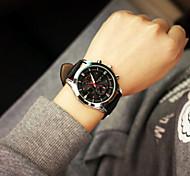 womanand orologio da polso da uomo in pelle di moda