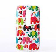 Baby Elephant Pattern TPU Soft Case for Motorola Moto G3