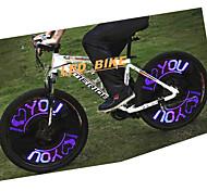 OEM Luces para bicicleta luces de la rueda CHT-0309 1 Modo Lower than 400 Lumens Bicicleta Batería 3AAA AAAA Prueba de Agua / Resistente