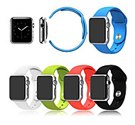Sport Winding Silicone Watchband With The Connector for Apple Watch   38mm/42mm (Assorted Colors)