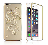 3D Gold Sliver Dragon Pattern Explosion-proof Tempered Glass Screen Protector For iPhone 6 4.7 Inch Front And Back Case