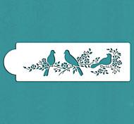 подарок любовь птицы торт сторона трафарета Святого Валентина, ул-295