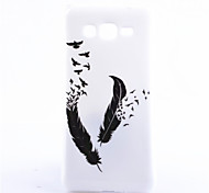 Black Feather Pattern TPU Soft Phone Case for Galaxy Grand Prime/G530/G360