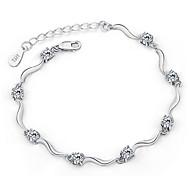 925 Sterling Silver Zircon Bracelet 1pc