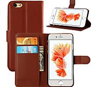 wallet cas de téléphone se étui en cuir PU étui en cuir de couverture pour l'iphone 6s 6 plus