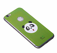 Cute Green Anti-radiation iPhone6 Plus Case Graphene Cooling Phone Stickers Cover with Panda for Apple iPhone6 Plus