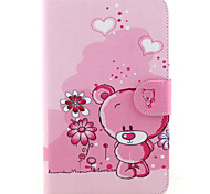 Little Bear Pattern PU Leather Wallet Soft TPU Case Cover For Samsung Galaxy Tab 4 10.1/ Tab 3 Lite/Tab 4 7.0/Tab A 8.0