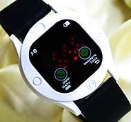 Unisex New Trend Personality Round Dial Silicon Band Fashion Digital Watch Sport Watch(Watch Face for the Decoration)