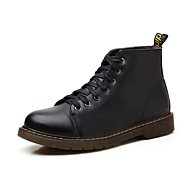 Men's Shoes Outdoor / Office & Career / Casual Leather Boots Black / Brown / Burgundy