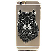 Wolf Pattern TPU Cell Phone Soft Shell For iPhone 6
