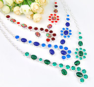 Fashion Forward Unique Fire Malachite Rainbow Turquoise Gem 925 Silver Chain Necklaces For Wedding Party Daily 1pc