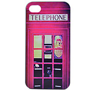 Telephone Booth Pattern PC Hard Case for iPhone 4/4S