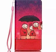 novo padrão de amor pu material de cordão ficar bolsa dinheiro caso de telefone para Huawei p8 Lite
