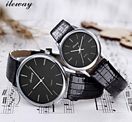 ILEWAY Fashion Couple Watch Quartz Watches Exquisiteness Waterproof  HONGKONG's Brand
