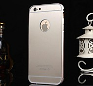 Protective Metal Bumper Frame with PC Back Cover for iPhone 6/6s (Assorted Colors)