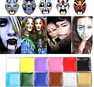 12 Color Face Body Paint For Halloween Makeup Waterproof Oil Painting Art Party Fancy Dress Tools