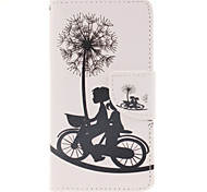 Biking Couples Pattern PU Leather Full Body Case with Stand and Card Slot for Samsung Galaxy A5/A5000 A3/A3000