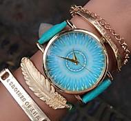 Fashion Watch Women Green Pattern Belt Female Form 6 Colors Geneva Quartz Wrist Watch