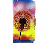 Löwenzahn-Muster PU-Leder-Tasche für Samsung Galaxy S6 / S6 Galaxienrand / galaxy s6 Kante sowie