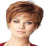 European and American Fashion Lady Natural Curved Short Synthetic Wigs Hair