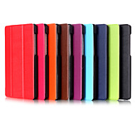 7 Inch Triple Folding Pattern High Quality PU Leather Stand Case for Huawei T1(T1-701u)(Assorted Colors)