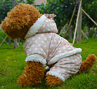 Dog Coats - S / M / L / XL - Winter - Pink / Beige Cotton