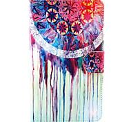 aquarel patroon pu lederen portemonnee zacht TPU geval dekking voor Samsung Galaxy Tab 10.1 4 / tab 3 lite / tab 4 7.0 / tab een 8,0