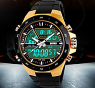 SKMEI® Men's Watches SKMEI® Date Stopwatch Alarm Luminous 50 Meters Waterproof Watch Belt PU Cool Watch Unique Watch