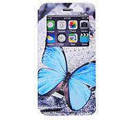 Blue Butterfly Pattern Window Bracket Section Full Package Phone Case for iPhone 6S
