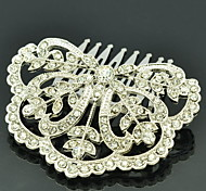 Alloy Mini Hair Combs Rhinesstone Hairpins for Little Girl Head Jewelry Accessories