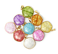 Beadia 1Pc New Fashion Jewelry Pendants 30mm Glass Pendants For Necklace 9 Colors U-Pick