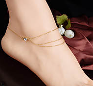 Women's Fashion Crystal Multilaye Tassels Chain Anklet