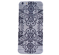 Black Flowers Pattern TPU Cell Phone Soft Shell For iPhone 6