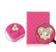 bling Diamantpfirsich PU Ledertasche für iPad Mini 1/2 Mini / Mini 3 (verschiedene Farben)